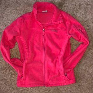 Women's pink Columbia zip up jacket